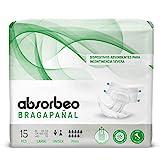 Bragapañal Maxi - Dispositivos Absorbentes para Incontinencia Severa, Unisex, Talla L (15 piezas por paquete)