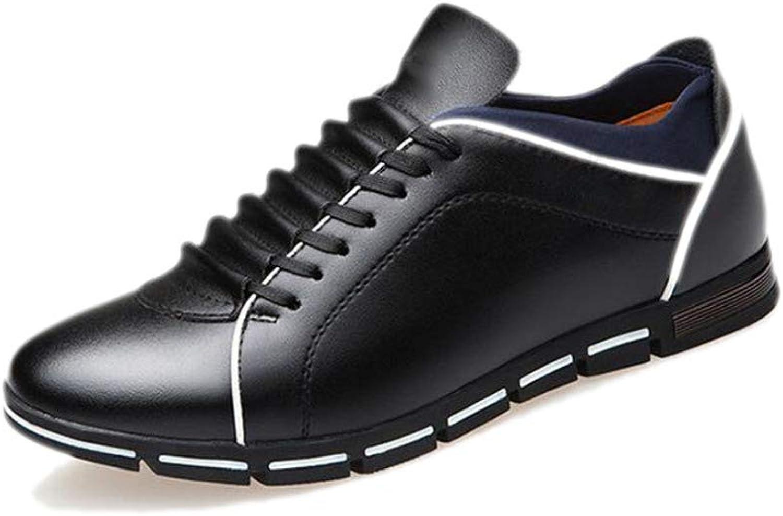Leather schuhe Lässig Business Mann Schuhe Bohnen Lazy Breathable Breathable Breathable Net Schuhe Oxford Pointy Schuhe Runde Kopf Weichen Boden,schwarz-42  5927d4