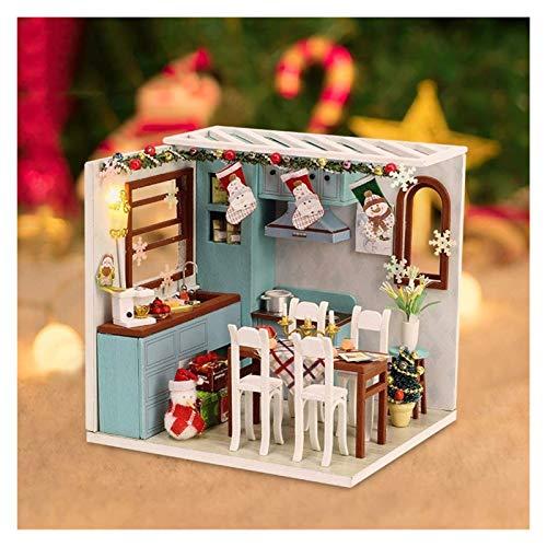 YYQIANG PlaySet-Hecho a Mano Casa de Miniatura Cocina con Accesorios: Best DIY Miniatura Motor Chouse Kit - Cocina Cumpleaños Regalo de Madres para Niño Y Niña Aficiones Infantiles
