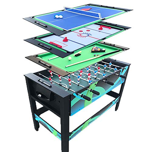 4-In-1 Multifunctionele Combo-Speeltafelset Inclusief Ijshockey, Tafelvoetbal, Tafeltennis En Pooltafel, Perfecte Familiespelset,Game Table Set