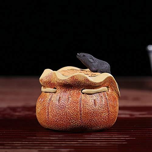 WANGZHI Thee huisdier Rat Keramische Sculptuur Aantal Zakjes Paarse modder