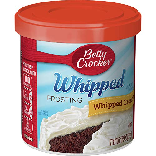 Betty Crocker Frosting, Whipped Gluten Free Frosting, Whipped Cream, 12 Oz Canister (Pack of 8)