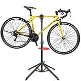 Fahrradmontageständer, Fahrrad Reparaturständer mit Werkzeugablage+Magnetfach, Höhenverstellbar & Klappbar, Belastbar bis 50kg, Keine Kratzer, Vierbeiniger Ständer für Fahrradreparatur