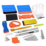 Eastyard Vehicle Vinyl Wrap Tools Window Tint for Cars Sun Protection Window Tinting Kits with 4 inch Felt Squeegee, PPF Scraper, Safety Cutter, Utility Knife & Blades Car Window Tint Film Install
