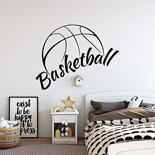 Basketbal muur stickers mand sport jongen slaapkamer basketbal hal interieur Art Decal Vinyl muur Stickers Home Decor bal