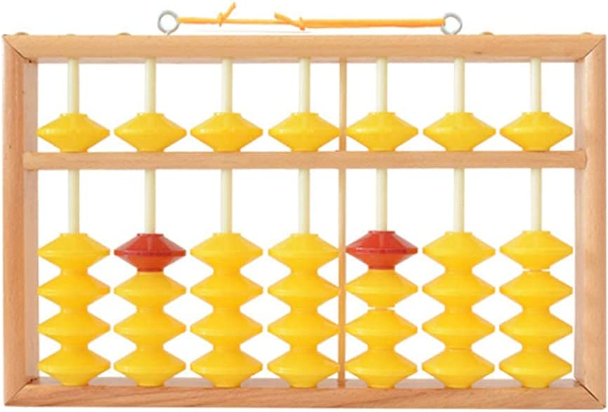New Free Shipping Pinpig 7 Column Great interest Non-Slip Hanging Abacus Education Chinese Wooden