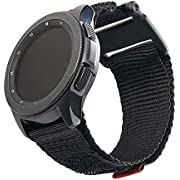 URBAN ARMOR GEAR UAG Compatible with Samsung Galaxy Watch 46mm/Galaxy Watch3 45mm/Gear S3 Frontier & Classic, fits Most 22mm Watch Lugs, Slim Sporty Nylon Replacement Watch Strap, Active Black