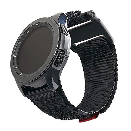 Urban Armor Gear Active Strap Armband Samsung Galaxy Watch 46 mm, Gear S3 Frontier & Classic, Watch Active 2 44 mm (Designed für Samsung Smartwatches, Ersatzband aus Nylon) - schwarz