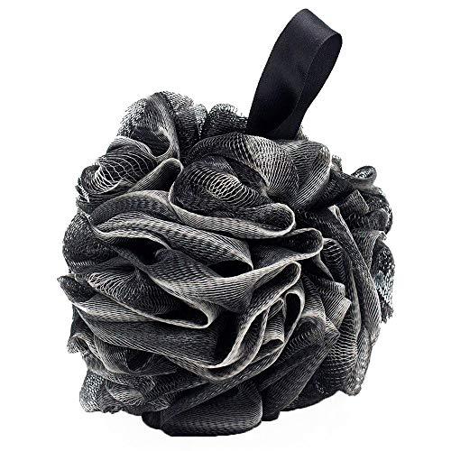 LQKYWNA Ducha Suave Malla Fibra De Carbón Bola De Espuma Esponja Baño Negro Burbuja Limpiador De La Piel del Cuerpo Herramientas De...