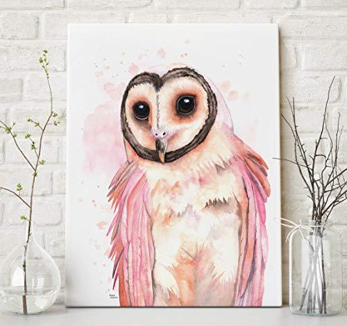 DIY Pintar por números búho Pintura por los Kits de los números, Pinturas de los para los Adultos, Pintura al óleo de DIY en Lona