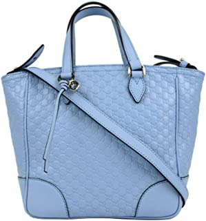 Gucci Women's Light Blue Guccissima Leather Small Crossbody Bag 449241 4503