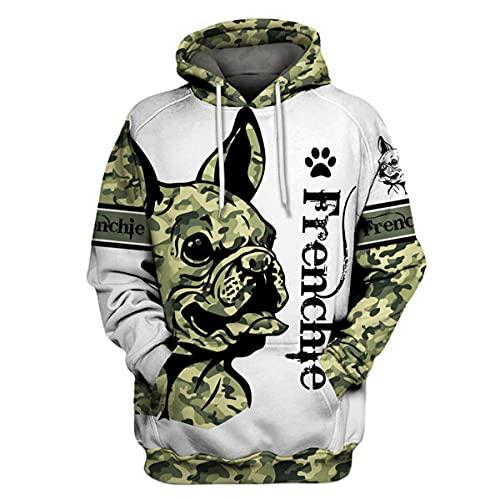 Zartana Frenchie Army Camo 3D All Over Printed Hoodie, T-Shirt, Zipper Hoodie, Sweatshirt Full Size S - 3XL, 4XL, 5XL for Men and Women