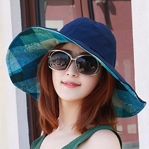 YXLMZ Holiday birthday present Ladies Women Hats Summer Two-Sided Dell Outdoor Visor Cool Hats Blue/A