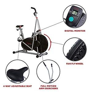 Sunny Health & Fitness Air Resistance Hybrid Fan Bike - SF-B2618