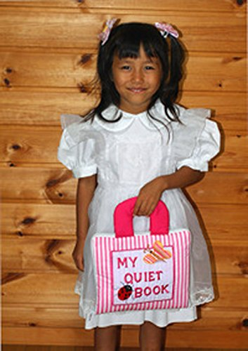 布絵本 MY QUIET BOOK NEW ENGLISH VERSION マイクワイエットブック ニュー英語刺しゅう版ピンクストライプ 幼児教育