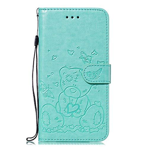 Hoesje voor iPhone 6/iPhone 6S, 3D Painted PU Lederen TPU Bumper Flip Magnetisch Boek Skin Shell Telefoon Hoesje Stand Portemonnee Beschermende Cover Kaarthouder voor iPhone 6/iPhone 6S
