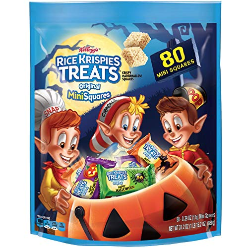 Kellogg's Rice Krispies Treats Halloween Limited Original Mini 80 Squares Family Size