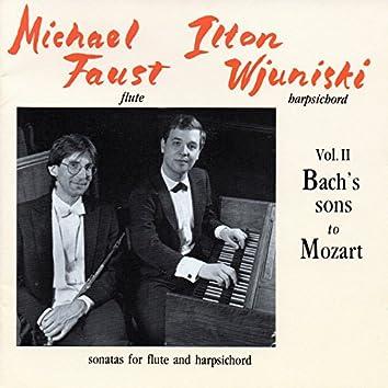 Bach & Mozart: Sonatas for Flute and Harpsichord, Vol. 2