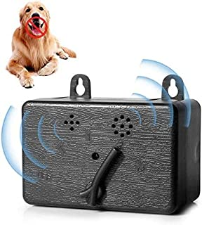 AUSELECT Anti Barking Device,Newly Outdoor Ultrasonic Dog Bark Deterrent with 3 Adjustable Modes - No Barking, Up to 16met...