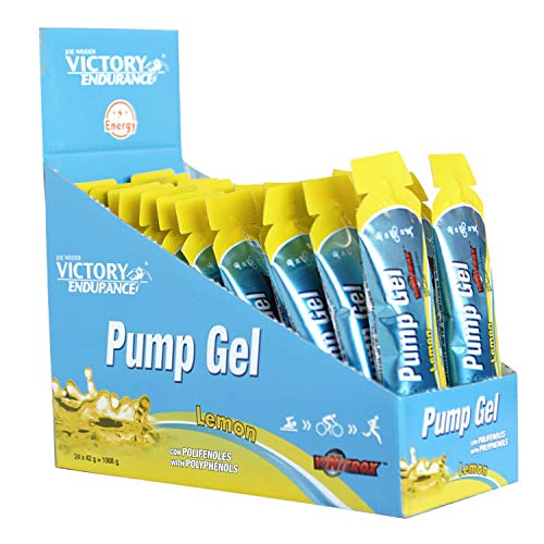 Victory Endurance Pump Gel Limón 42g x 24 geles. Efecto Vasodilatador. Enriquecido con Vitamina B6 y B1
