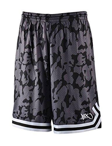 K1X Hardwood Big Hole mesh Double x Shorts schwarz/camo/schwarz