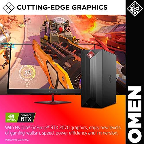 Omen by HP Obelisk Gaming Desktop Computer, Intel Core i7-9700K Processor, NVIDIA GeForce RTX 2070 8 GB, HyperX 16 GB RAM, 512 GB SSD, VR Ready, Windows 10 Home (875-1002, Black)