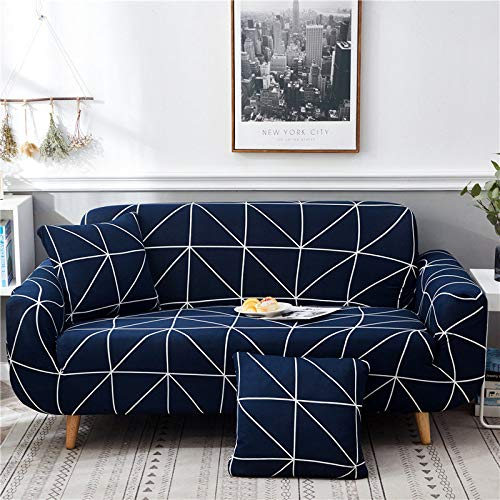 ASCV Fundas de sofá elásticas geométricas para Sala de Estar Funda de sofá Moderna para Silla de sofá de Diferentes Formas Funda de sofá Estilo L A1 3 plazas