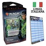 Andycards Mazzo Vivien - Set Base M20 - 60 Carte Magic in Italiano con Planeswalker + 1 Busta + Segnapunti