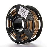 JFH 1KG filamento PLA 1.75mm 3D impresora filamento material de impresión para impresión pluma amarillo cobre