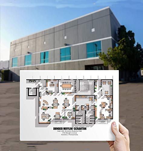 The Office US TV Show Office Floor Plan Poster