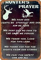 2個 キリーハンターの祈りアイアンペインティングクリエイティビティティンサイン通知パーソナリティレトロウォールポスターホテルバールームガレージクラブギフト メタルプレート レトロ アメリカン ブリキ 看板