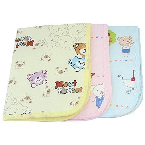 ReFaXi® Lovely Baby Infant Reusable Waterproof Diaper Changing Pad Home Travel Urine Mat Underpad Cover (Random Color)