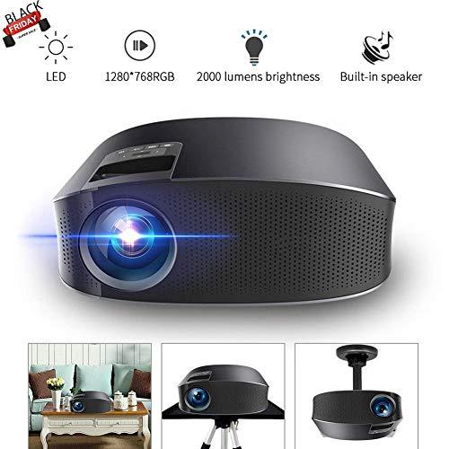 Proiettore Smartlife LED YG600 portatile video proiettore 2000 lumen 200'' supporto TV 1080p Full HD per video/film/gioco/home theater con ingresso HDMI/VGA/USB/SD/AV