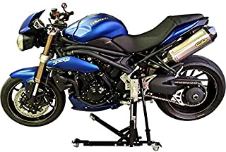 SV Racing Parts for Triumph Gen 2 Speed Triple Models 2011-2019 Black Custom Paddock Style Hydraulic Side Lift Motorcycle Stand