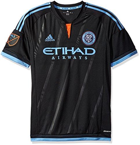 MLS New York City FC Men's Replica Short Sleeve Jersey, Small, Black