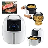 GoWISE USA XL 8-in-1 Digital Air Fryer with Recipe Book, 5.8-Qt, White