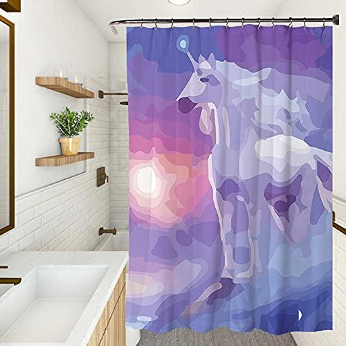 Cortina de ducha, impermeable resistente al moho, protección del medio ambiente, cortina engrosada (150 x 180 cm)