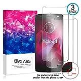 ycloud [3 pack] pellicola protezione di schermo per motorola moto z2 force,[9h dureza/0.3mm],[alta definicion] vetro temperato pellicola protettiva per motorola moto z2 force