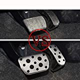 Unknow Auto AT Car Pedals Cover Fit, para Toyota Auris Avensis Rav4 Corolla Prius Facelife, para Lexus NX NX200T 300H Auto Pedal