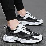 Running Shoes with Air Padding,Laufschuhe Herren Outdoor-Schuhe, Sport Casual Wander Herrenschuhe-Dark ash_42,Trainer Joggingschuhe