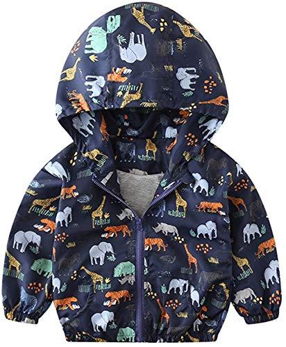 Clothing Abrigo unisex para bebés y niños, para otoño de 1 a 6 años (color: azul marino, talla: 3 a 4 años)