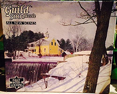 Guild 500 Piece Puzzle - Winter on the Pond by Guild