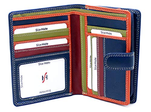 Cuir véritable carte de crédit titulaire portefeuille fin 8 Cartes Slots Hunter en cuir