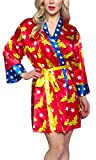Wonder Woman Women's Silk Printed Robe Red
