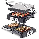 Barbecue Griglia Elettrica 2000 W Doppia Griglia BEPER 90.382G 44X27 Cm