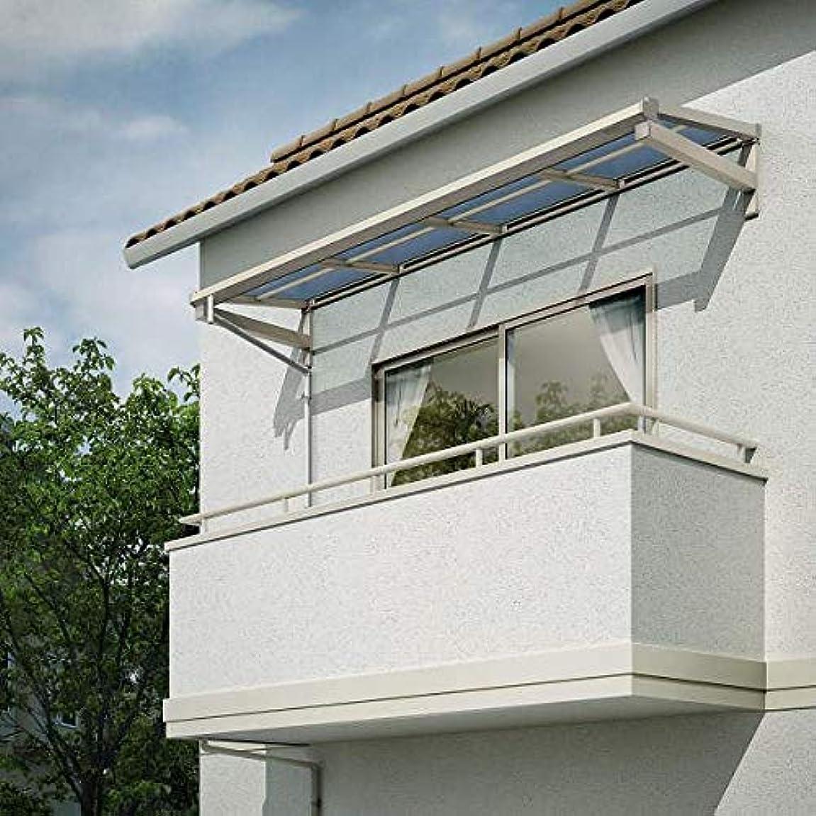 娯楽パッチ見物人YKKAP 持ち出し屋根 ソラリア 4間×4尺 フラット型 熱線遮断ポリカ屋根 メーターモジュール 600N/m2 ブラウン