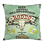 Jieaiuoo Western Throw Pillow Cushion Cover, Retro Style