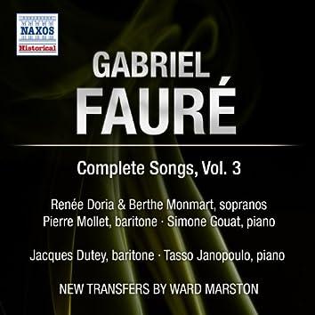 Faure: Complete Songs, Vol. 3