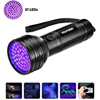 Linterna Ultravioleta Inrop Led Linterna UV flashlight 9 LED Ultravioleta Detectar manchas de orina de mascotas Luz negra 395nm luz ultravioleta