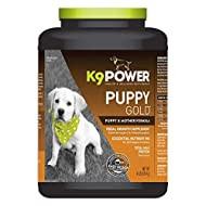 K9 Power - Puppy Gold - Nutritional Supplement for Growing Puppies & Nursing Mothers - Targets Skeletal Structure, Muscular Formation, Organ Development